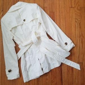 Jones New York Jackets & Coats - Jones New York Double Breasted Trench Coat Ivory M